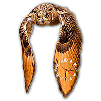 Дизайнерские часы для дома фигурные Erpol Полет совы 30x44 см