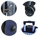 Чемоданы дорожные DMS с тележкой, комплект 4шт S-M-L-XL черный Black, фото 2