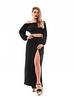 Женская длинная юбка на запах
