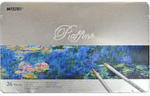 Карандаши цветные в металлическом пенале 36цв. Marco Raffine 7100-36TN, фото 3