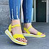 Женские сандалии желтые натуральная кожа летние яркие, фото 4