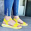 Женские сандалии желтые натуральная кожа летние яркие, фото 5