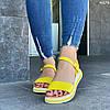 Женские сандалии желтые натуральная кожа летние яркие, фото 3