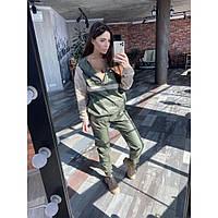 Женский спортивный костюм легкий хаки, фото 1