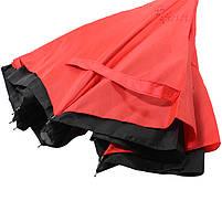 Зонт наоборот Up-Brella Красный обратного сложения брендовый для девушек Апбрела двойное складывание, фото 5