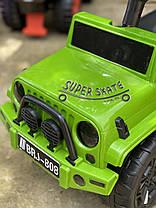 Толокар с родительской ручкой -  машинка толокар для мальчика Зеленый, фото 3