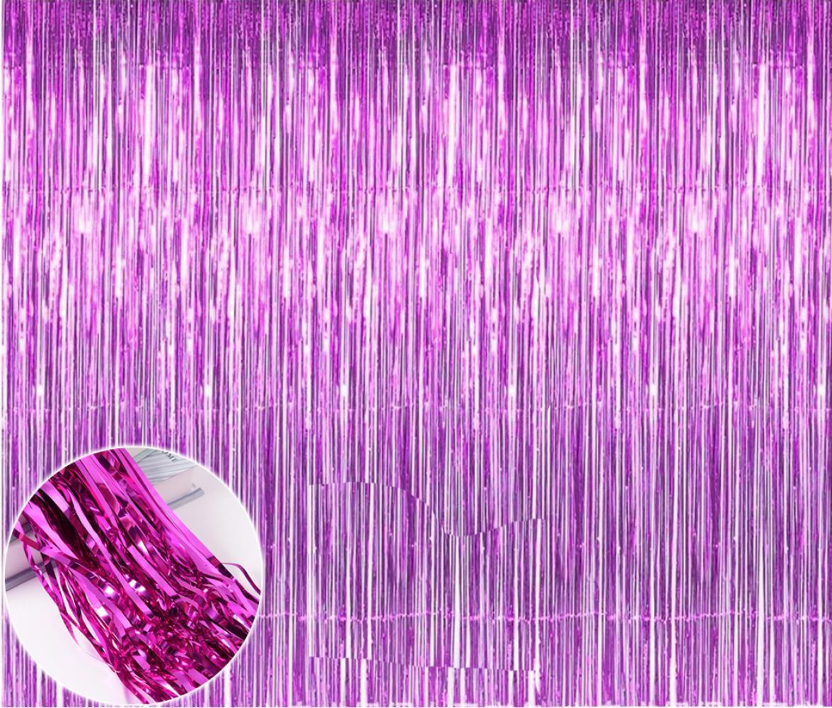 Шторка для фото зон  из фольги малиновая 1х2 м