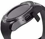 Умные смарт часы Smart Watch V8, часы с функцией звонков Черные, фото 4
