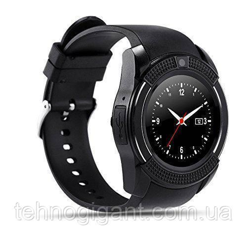 Розумні смарт годинник Smart Watch V8, годинник з функцією дзвінків Чорні