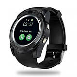 Розумні смарт годинник Smart Watch V8, годинник з функцією дзвінків Чорні, фото 2