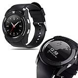 Умные смарт часы Smart Watch V8, часы с функцией звонков Черные, фото 3