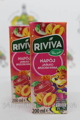 Сік трубочка Riviva яблуко персик