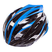 Велошлем кросс-кантри с механизмом регулировки Zelart, EPS, пластик, PVC, р-р M-55-58, синий (HY032)