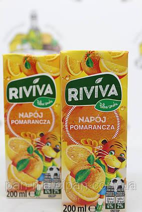 Сік трубочка Riviva апельсин