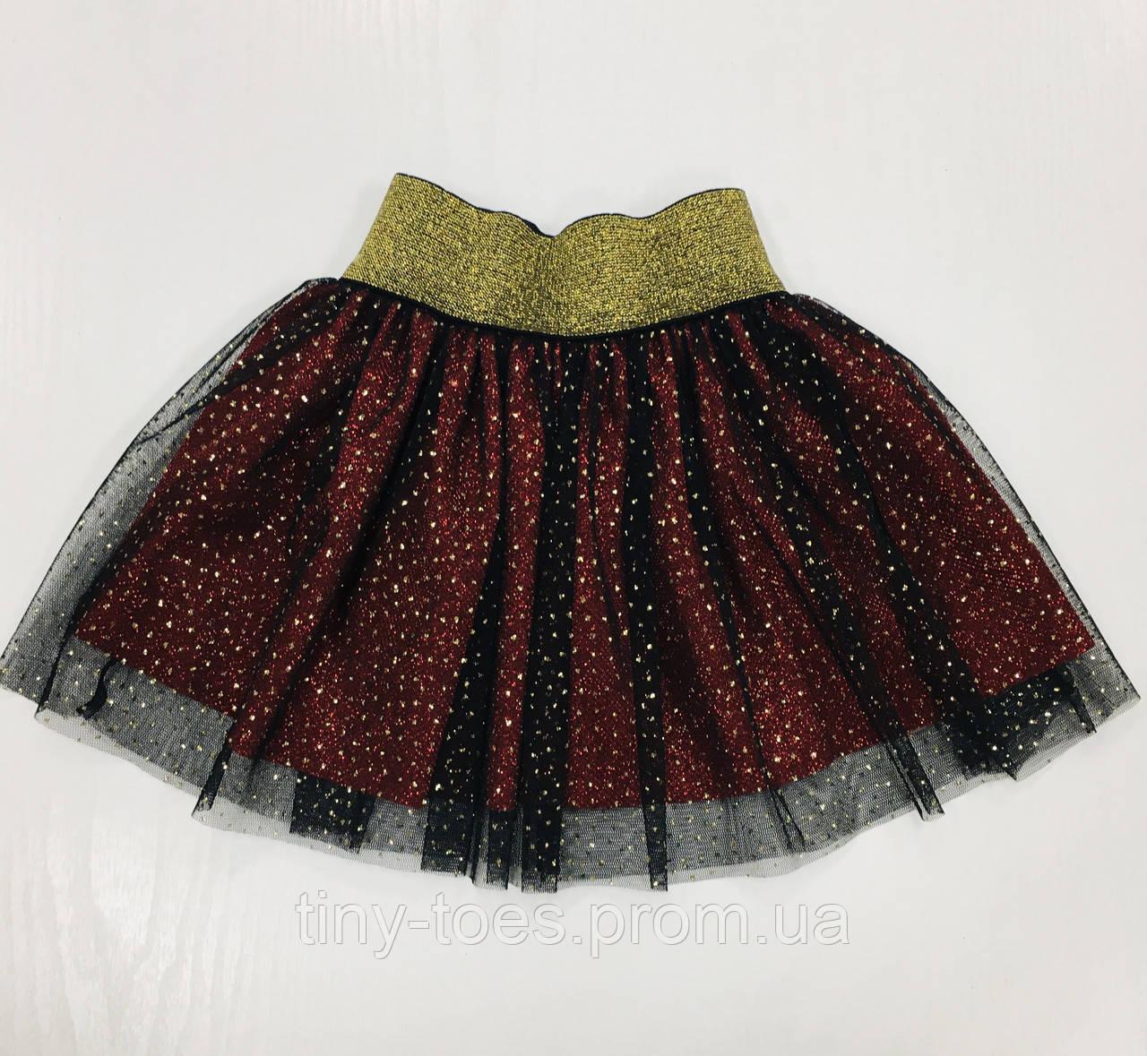 Спідниця з фатіном для дівчинки чорно-червоного кольору бренд VCS