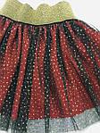 Спідниця з фатіном для дівчинки чорно-червоного кольору бренд VCS, фото 2