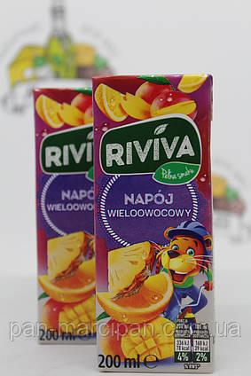Сік трубочка Riviva ананас апельсин манго
