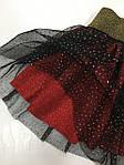 Спідниця з фатіном для дівчинки чорно-червоного кольору бренд VCS, фото 3