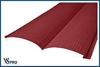 Сайдинг фасадный металлический Блок-Хаус, RAL 3011 Цвет Коричнево-красный (глянец).