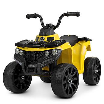 Детский квадроцикл на аккумуляторе M 4137EL-6 желтый