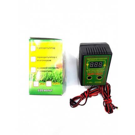 Цифровой терморегулятор с влагомером для инкубатора Цып-Цып 2 кВт., фото 2