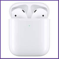 Беспроводные Наушники Apple AirPods 2 TWS Эпл Аирподс с Беспроводным Зарядным Футляром Оригинальные MRXJ2