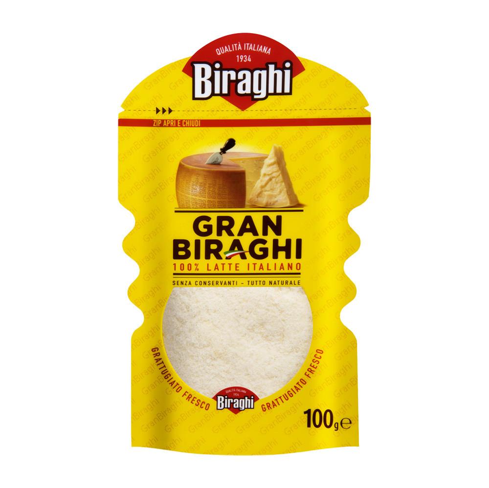 Сир Gran Biraghi 100г, тертий, 24шт/ящ