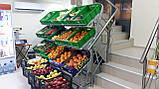 Овощной стеллаж с сетчатыми полками на колесах H176/L80/D100 cm. Тип-07, фото 3