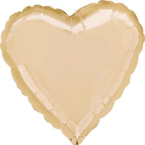 """Фольгована кулька серце рожеве золото 18"""" Flexmetal"""
