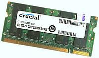 Оперативная память для ноутбука Crucial SODIMM DDR2 4Gb 800MHz 6400S 2R8 CL6 (CT51264AC800.16FC) Б/У