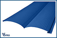 Сайдинг фасадный металлический Блок-Хаус, RAL 5005 Цвет Сигнальный синий (глянец).