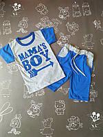 Детский летний костюм Мамин мальчик на рост 80-104 см