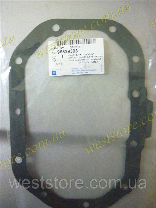 Прокладка поддона КПП новый образец 11 отверстий Lanos Ланос,Авео Aveo , Lacetti GM 96829393