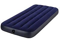 Одноместный надувной матрас Intex 64756 (76х191х25 см.)