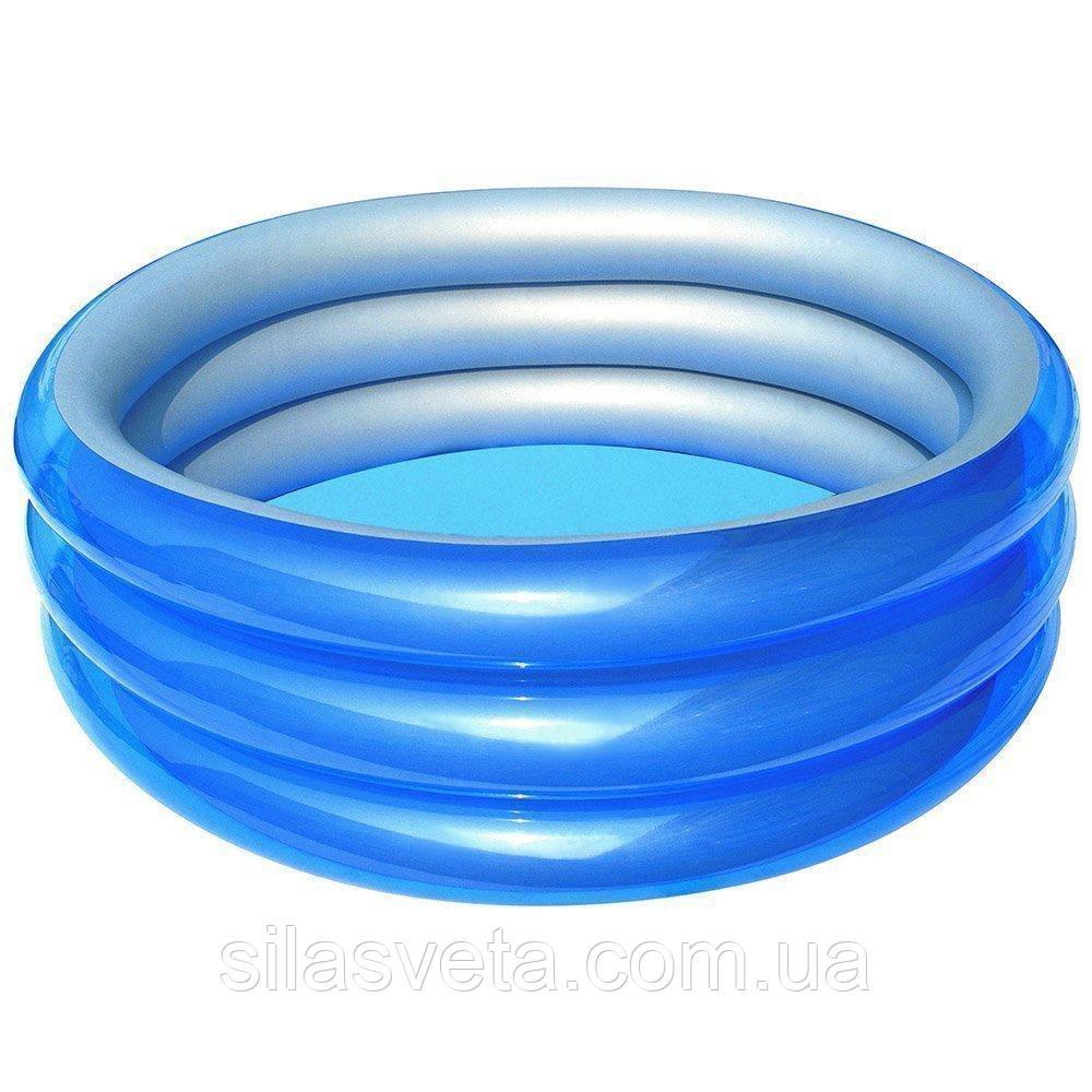 Детский надувной бассейн Bestway 51041 Метталик 150 х 53 см Синий