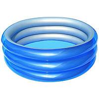 Детский надувной бассейн Bestway 51041 Метталик 150 х 53 см Синий, фото 1