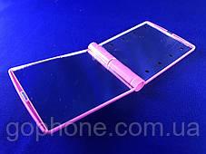 Зеркало с LED подсветкой розовое, фото 3