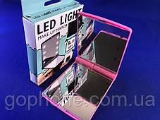 Зеркало с LED подсветкой розовое, фото 2