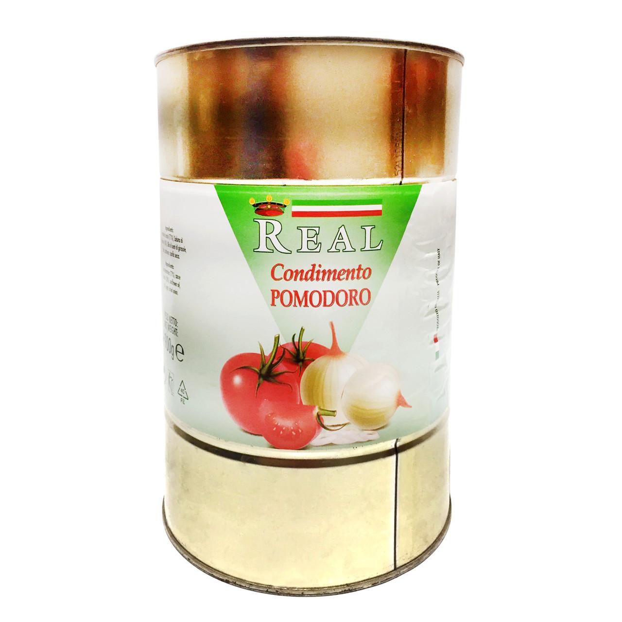 Помідори перетерті REAL Condimento Pomodoro, ж/б, 4,15кг, 6шт/ящ