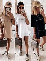 Платье футболка в расцветках 43229, фото 1