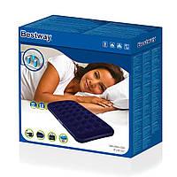 Одноместный надувной матрас Bestway 67471 с электрическим насосом 220V и сумкой Pavillo 99х188х22 см, фото 1