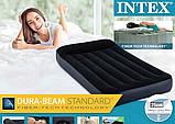 Надувной одноместный матрас Intex 64141 Pillow Rest Classic (99x191x25 см.), фото 7