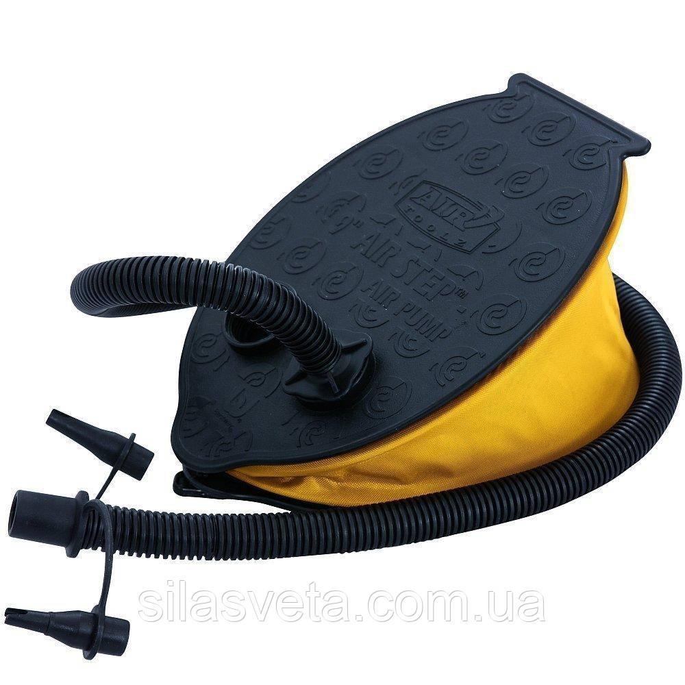 Ножной насос с тремя насадками Bestway 62004 Bellows Foot Pump, объем 1.4 л.