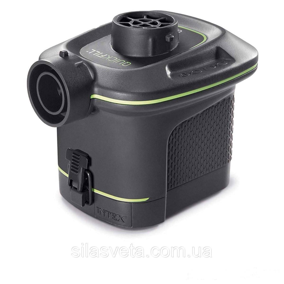 Электрический насос на батарейках с тремя насадками Intex 66638 Quick-Fill  (420 л/мин. 25 Вт.)