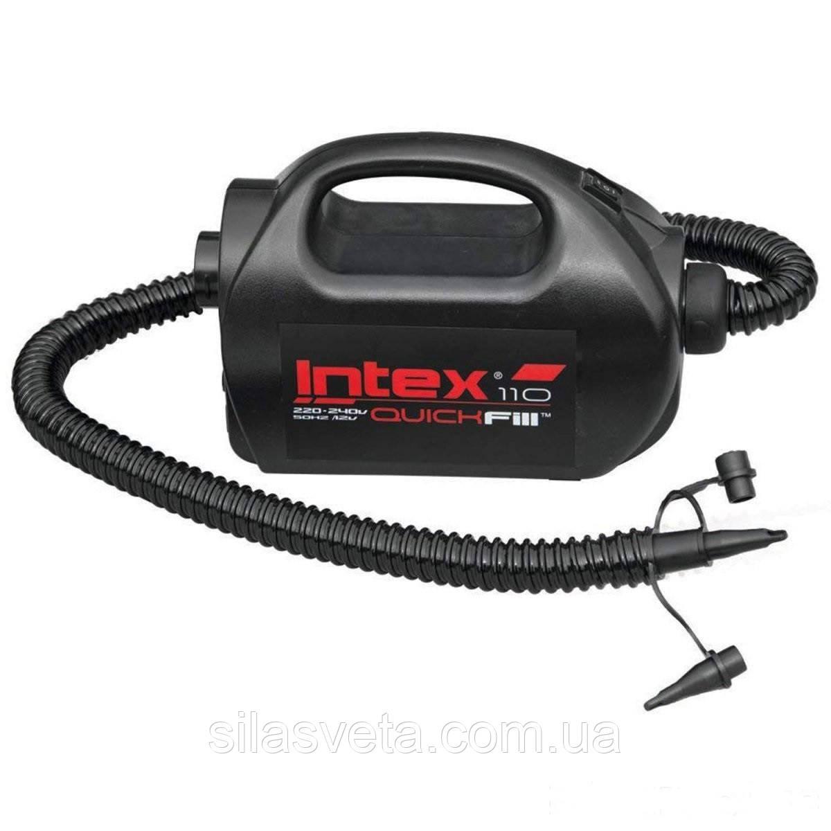 """Электрический насос (220/12 V) Intex 68609 (1100 л/мин/) + шланг, шнур 12V для """"прикуривателя"""""""