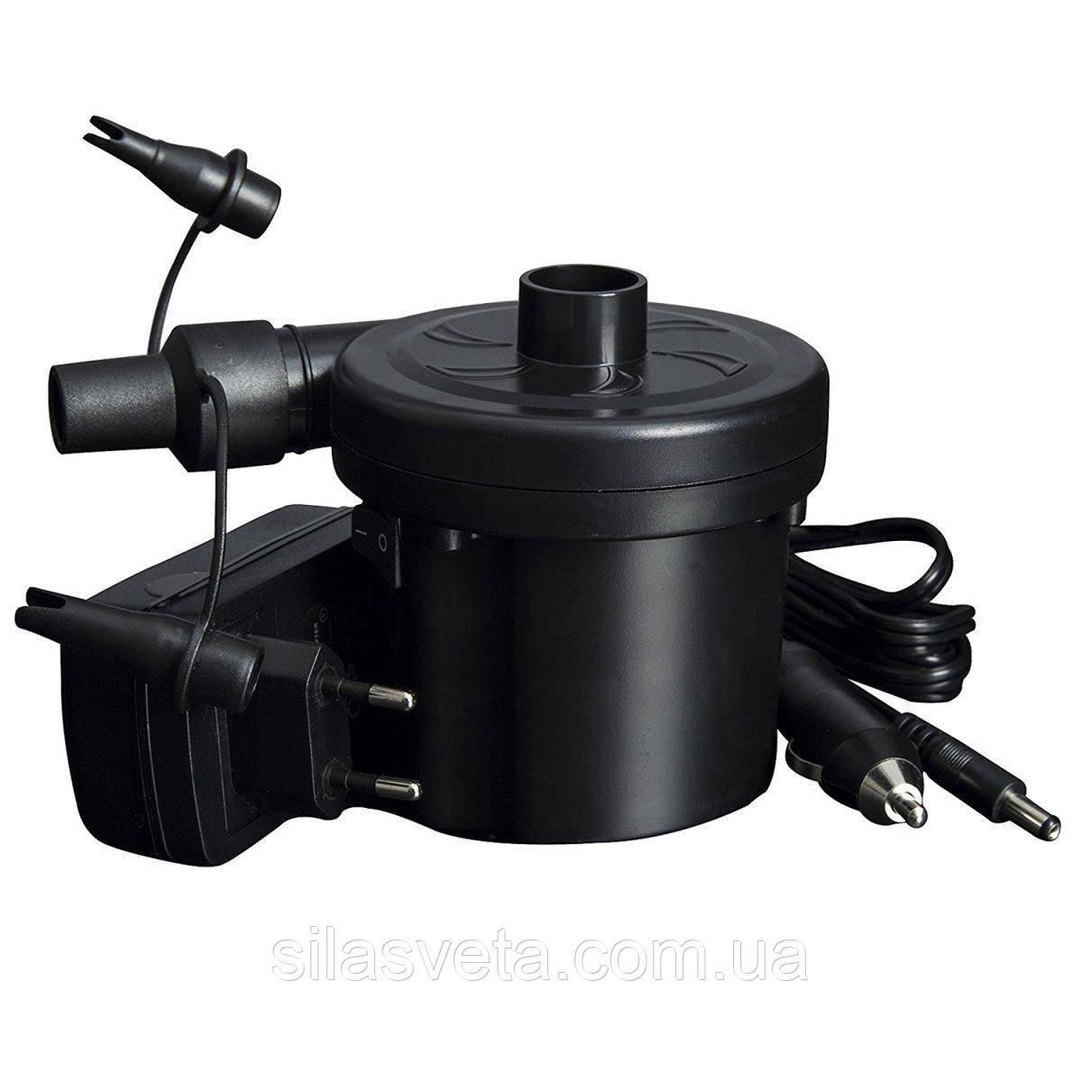 Универсальный насос Bestway с тремя насадками 62076 с сетевым адаптером и шнуром 12V (прикуриватель)