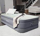 Надувная одноместная кровать со встроенным электронасосом Intex 64902 PremAire (99x191x30 см), фото 5