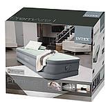 Надувная одноместная кровать со встроенным электронасосом Intex 64902 PremAire (99x191x30 см), фото 7