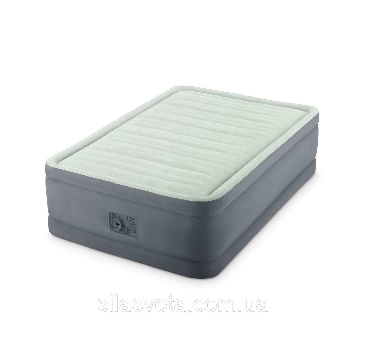 Полуторная надувная кровать, Intex 64904 PremAire со встроенным электронасосом, 137x191x46 см