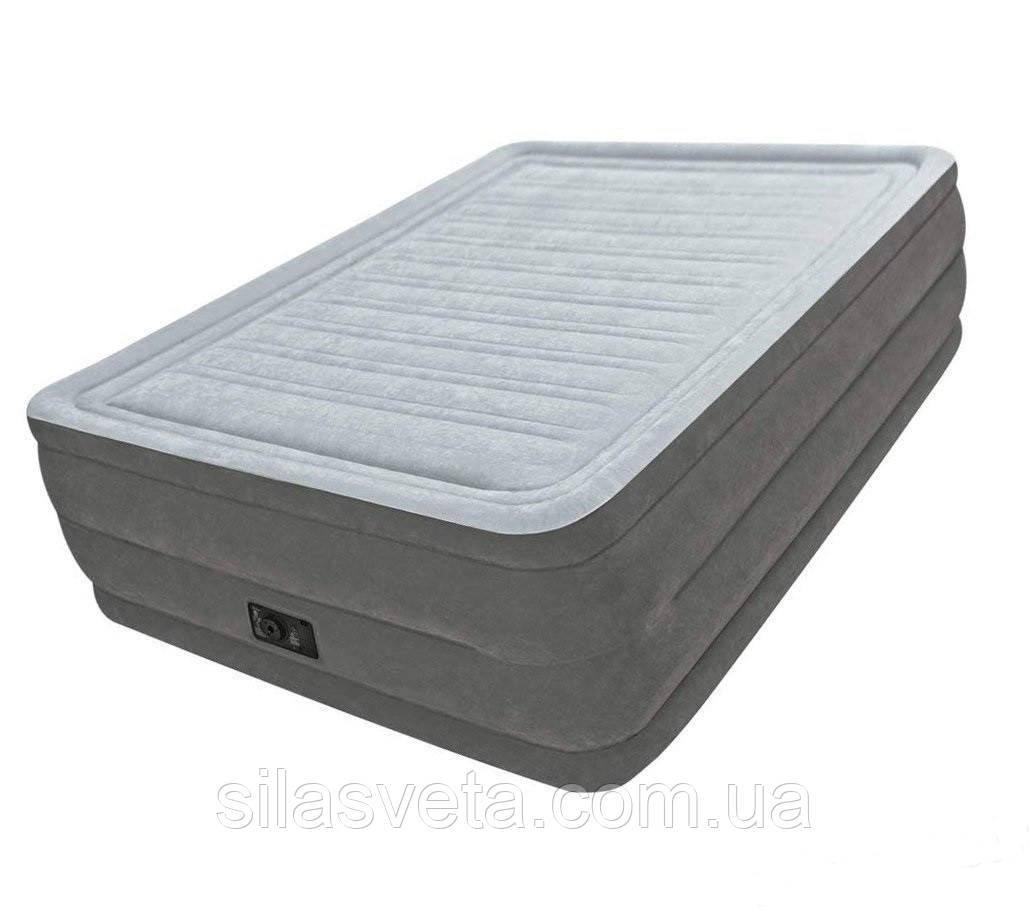 Надувная двухместная кровать со встроенным электронасосом Intex 64418 Comfort-Plush (152x203x56 см.)